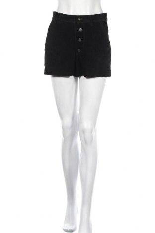 Дамски къс кожен панталон Mango, Размер S, Цвят Черен, Естествен велур, Цена 14,96лв.