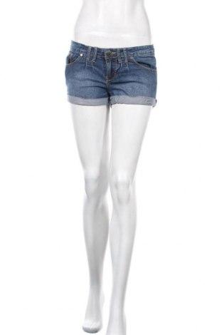 Γυναικείο κοντό παντελόνι, Μέγεθος M, Χρώμα Μπλέ, 76% βαμβάκι, 22% πολυεστέρας, 2% ελαστάνη, Τιμή 8,77€