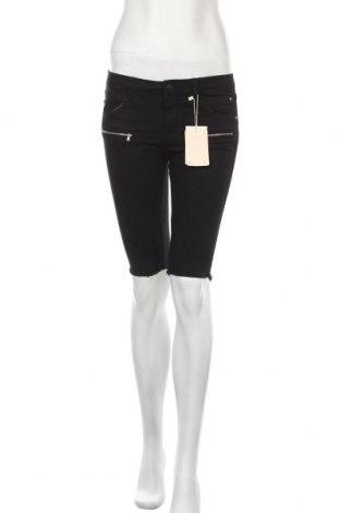 Γυναικείο κοντό παντελόνι Bershka, Μέγεθος S, Χρώμα Μαύρο, 97% βαμβάκι, 3% ελαστάνη, Τιμή 13,64€