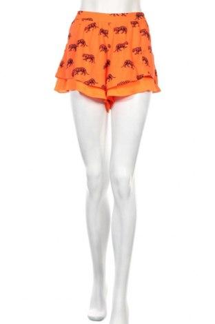 Γυναικείο κοντό παντελόνι Bershka, Μέγεθος L, Χρώμα Πορτοκαλί, Τιμή 15,14€