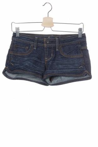 Γυναικείο κοντό παντελόνι Guess, Μέγεθος XXS, Χρώμα Μπλέ, 99% βαμβάκι, 1% ελαστάνη, Τιμή 8,87€