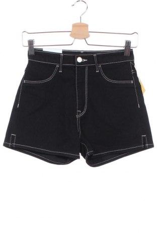 Γυναικείο κοντό παντελόνι H&M, Μέγεθος XS, Χρώμα Μαύρο, 80% βαμβάκι, 18% πολυεστέρας, 2% ελαστάνη, Τιμή 15,99€