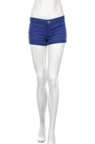 Дамски къс панталон H&M, Размер S, Цвят Син, 98% памук, 2% еластан, Цена 14,31лв.