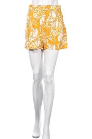 Γυναικείο κοντό παντελόνι H&M, Μέγεθος L, Χρώμα Κίτρινο, Βισκόζη, Τιμή 7,27€