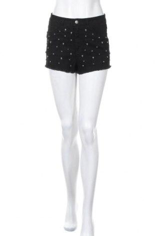 Γυναικείο κοντό παντελόνι H&M Divided, Μέγεθος M, Χρώμα Μαύρο, 98% βαμβάκι, 2% ελαστάνη, Τιμή 9,36€