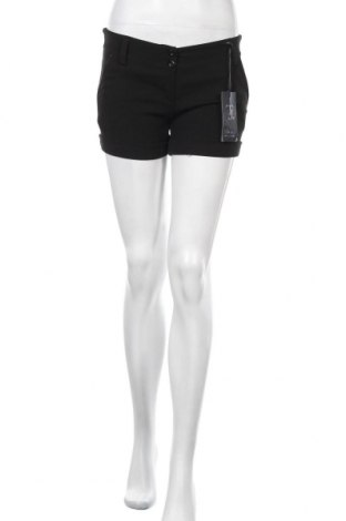 Γυναικείο κοντό παντελόνι Made In Italy, Μέγεθος S, Χρώμα Μαύρο, 60% πολυεστέρας, 5% ελαστάνη, 35% βισκόζη, Τιμή 12,73€