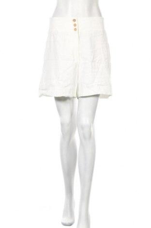 Дамски къс панталон Mango, Размер M, Цвят Бял, 93% вискоза, 7% полиестер, Цена 6,83лв.