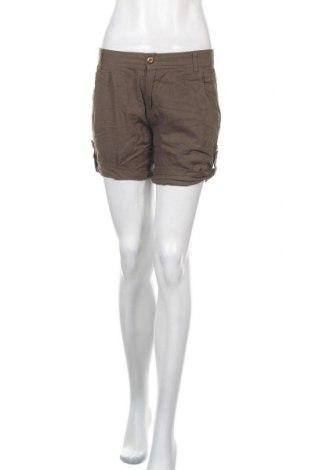Γυναικείο κοντό παντελόνι My Wear, Μέγεθος S, Χρώμα Πράσινο, 55% λινό, 45% βισκόζη, Τιμή 9,26€
