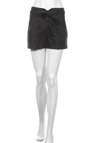 Γυναικείο κοντό παντελόνι Naf Naf, Μέγεθος S, Χρώμα Μαύρο, 55% λινό, 45% βαμβάκι, Τιμή 10,49€