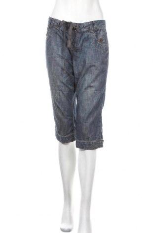 Γυναικείο κοντό παντελόνι S.Oliver, Μέγεθος L, Χρώμα Μπλέ, Βαμβάκι, Τιμή 11,72€