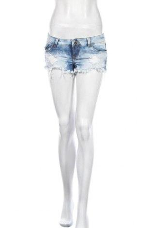 Γυναικείο κοντό παντελόνι Tally Weijl, Μέγεθος S, Χρώμα Μπλέ, 98% βαμβάκι, 2% ελαστάνη, Τιμή 3,64€