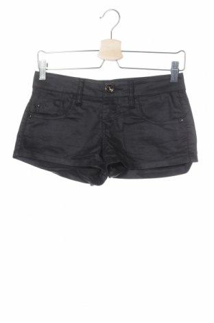 Γυναικείο κοντό παντελόνι Tally Weijl, Μέγεθος XS, Χρώμα Μαύρο, 64% βαμβάκι, 33% πολυεστέρας, 3% ελαστάνη, Τιμή 8,77€