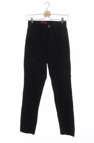 Дамски кожен панталон, Размер XS, Цвят Черен, Естествен велур, Цена 48,83лв.