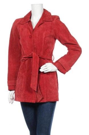 Γυναικεία δερμάτινη καμπαρντίνα, Μέγεθος M, Χρώμα Κόκκινο, Φυσικό σουέτ, Τιμή 50,66€