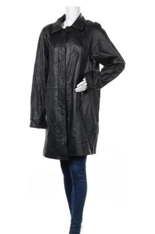 Γυναικεία δερμάτινη καμπαρντίνα Midnight Velvet, Μέγεθος XL, Χρώμα Μαύρο, Γνήσιο δέρμα, Τιμή 9,98€