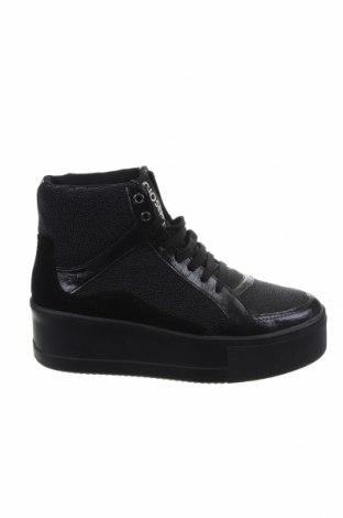 Дамски обувки Gioseppo, Размер 39, Цвят Черен, Текстил, естествен велур, еко кожа, Цена 103,20лв.