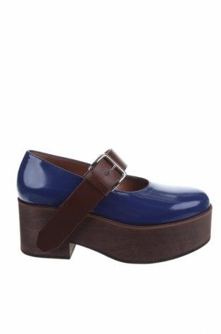 Дамски обувки Marni, Размер 37, Цвят Син, Естествена кожа, Цена 237,65лв.