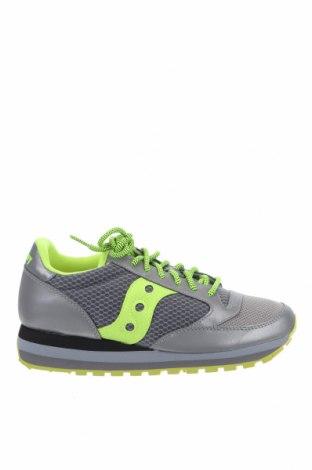 Γυναικεία παπούτσια Saucony, Μέγεθος 42, Χρώμα Γκρί, Δερματίνη, κλωστοϋφαντουργικά προϊόντα, Τιμή 36,54€