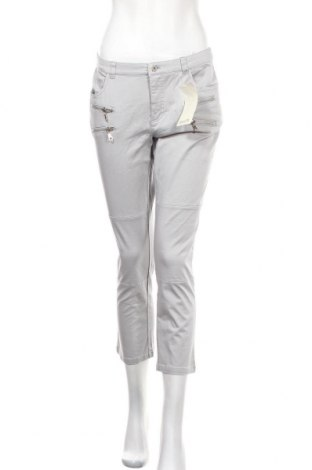 Дамски панталон Boysen's, Размер M, Цвят Сив, 97% памук, 3% еластан, Цена 26,57лв.