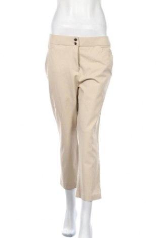 Дамски панталон Chico's, Размер M, Цвят Бежов, 58% памук, 38% вискоза, 4% еластан, Цена 32,76лв.