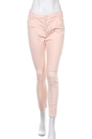 Дамски панталон Clockhouse, Размер L, Цвят Розов, 71% памук, 27% полиестер, 2% еластан, Цена 7,09лв.