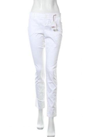Γυναικείο παντελόνι Flg, Μέγεθος M, Χρώμα Λευκό, 97% βαμβάκι, 3% ελαστάνη, Τιμή 13,64€