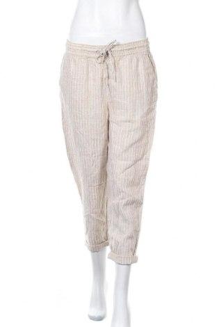 Дамски панталон H&M L.O.G.G., Размер M, Цвят Бежов, Лен, Цена 24,99лв.
