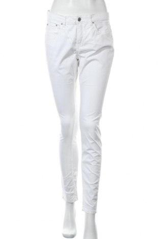Дамски панталон H&M L.O.G.G., Размер M, Цвят Бял, 98% памук, 2% еластан, Цена 13,13лв.