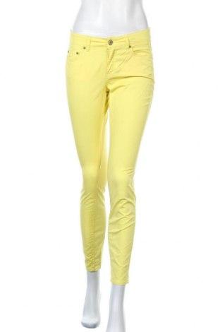 Дамски панталон H&M L.O.G.G., Размер S, Цвят Жълт, 98% памук, 2% еластан, Цена 19,69лв.