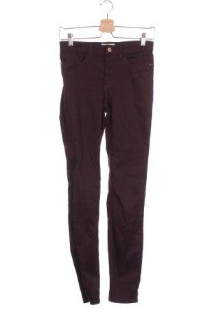 Дамски панталон H&M L.O.G.G., Размер XS, Цвят Лилав, 65% памук, 33% полиестер, 2% еластан, Цена 12,29лв.
