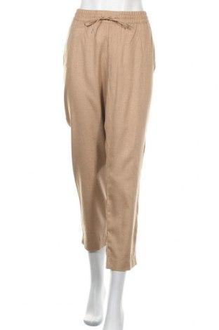 Дамски панталон H&M L.O.G.G., Размер XL, Цвят Кафяв, Памук, Цена 24,10лв.