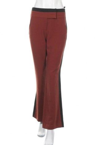 Дамски панталон Jasper Conran, Размер M, Цвят Кафяв, 64% полиестер, 33% вискоза, 3% еластан, Цена 7,35лв.
