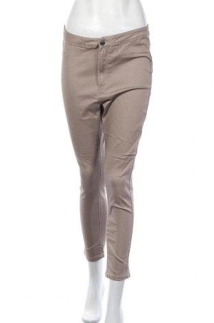 Дамски панталон Lh By La  Halle, Размер L, Цвят Бежов, 63% памук, 34% полиестер, 3% еластан, Цена 9,56лв.
