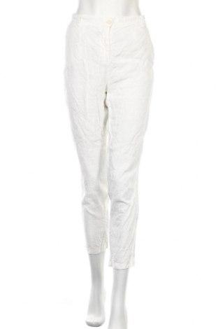 Γυναικείο παντελόνι Marc O'Polo, Μέγεθος M, Χρώμα Λευκό, 100% λινό, Τιμή 16,37€