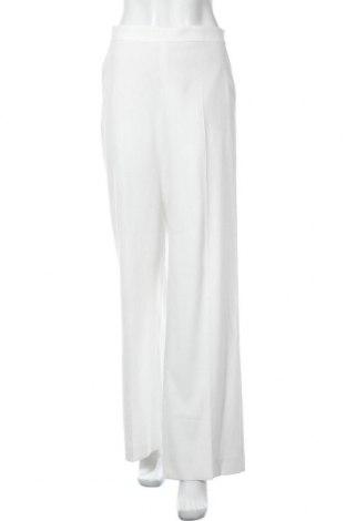 Pantaloni de femei Massimo Dutti, Mărime L, Culoare Alb, 29% poliester, 68% viscoză, 3% elastan, Preț 65,23 Lei