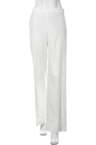 Pantaloni de femei Massimo Dutti, Mărime M, Culoare Alb, 29% poliester, 68% viscoză, 3% elastan, Preț 65,23 Lei