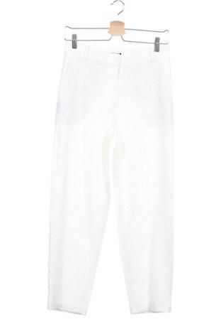 Дамски панталон Massimo Dutti, Размер XS, Цвят Бял, 49% вискоза, 49% лен, 2% еластан, Цена 22,25лв.