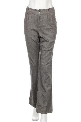 Дамски панталон My Own, Размер M, Цвят Сив, 65% полиестер, 32% вискоза, 3% еластан, Цена 3,00лв.