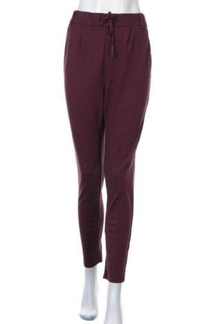 Dámské kalhoty  ONLY, Velikost L, Barva Červená, 63% viskóza, 32% polyamide, 5% elastan, Cena  302,00Kč