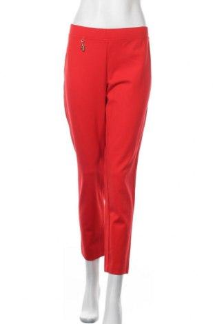 Дамски панталон Pompoos Design By Harald Gloockler, Размер L, Цвят Червен, 70% вискоза, 26% полиамид, 4% еластан, Цена 35,28лв.