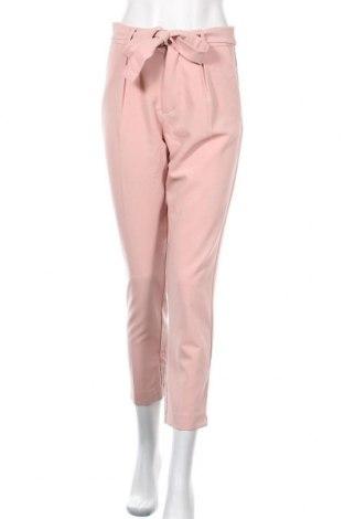 Дамски панталон Tally Weijl, Размер S, Цвят Розов, 75% полиестер, 20% вискоза, 5% еластан, Цена 28,35лв.