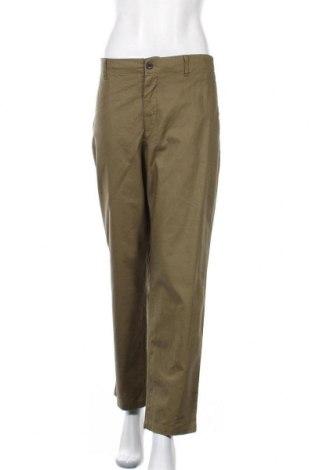 Дамски панталон Uniqlo, Размер XL, Цвят Зелен, 52% лен, 48% памук, Цена 24,57лв.