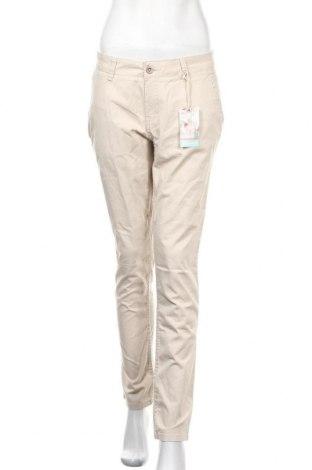 Γυναικείο παντελόνι Up 2 Fashion, Μέγεθος M, Χρώμα  Μπέζ, 98% βαμβάκι, 2% ελαστάνη, Τιμή 15,36€
