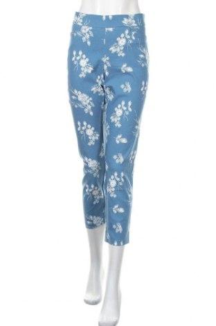 Дамски панталон Verve, Размер M, Цвят Син, 76% вискоза, 21% полиамид, 3% еластан, Цена 18,43лв.