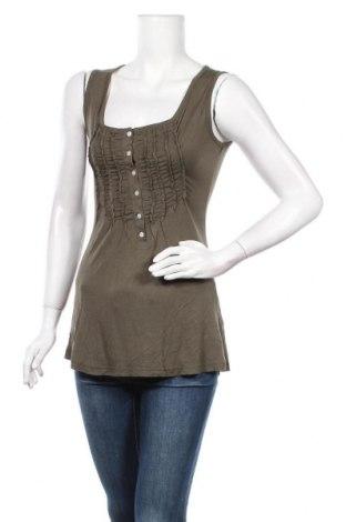 Γυναικείο αμάνικο μπλουζάκι Aniston, Μέγεθος M, Χρώμα Πράσινο, Βισκόζη, Τιμή 10,39€