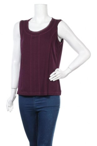 Γυναικείο αμάνικο μπλουζάκι Bonita, Μέγεθος L, Χρώμα Βιολετί, 95% βισκόζη, 5% ελαστάνη, Τιμή 9,38€