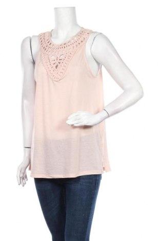 Γυναικείο αμάνικο μπλουζάκι H&M Conscious Collection, Μέγεθος M, Χρώμα  Μπέζ, 100% πολυεστέρας, Τιμή 7,79€