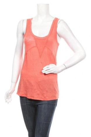 Γυναικείο αμάνικο μπλουζάκι Kookai, Μέγεθος S, Χρώμα Πορτοκαλί, Λινό, Τιμή 5,91€