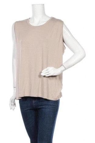 Γυναικείο αμάνικο μπλουζάκι Malva, Μέγεθος XXL, Χρώμα  Μπέζ, 92% βισκόζη, 8% ελαστάνη, Τιμή 5,91€