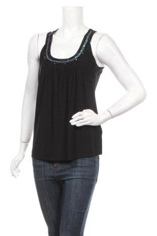 Γυναικείο αμάνικο μπλουζάκι Motivi, Μέγεθος L, Χρώμα Μαύρο, 96% πολυεστέρας, 4% ελαστάνη, Τιμή 8,31€